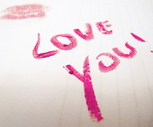 kiss, love you, and pink image
