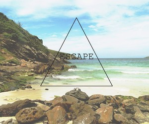 beach, escape, and hipster image