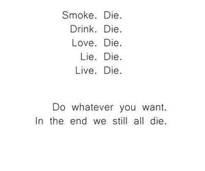 die, love, and smoke image