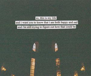 quote, happy, and sad image