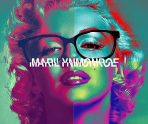 colors, Marilyn Monroe, and hipster image