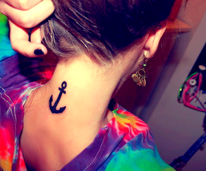 tattoo, anchor, and tatto image