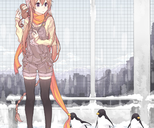 anime, penguin, and kawaii image