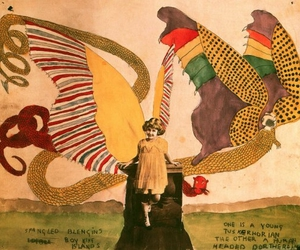 art, watercolor, and henry darger image