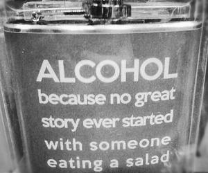 alcohol, story, and salad image