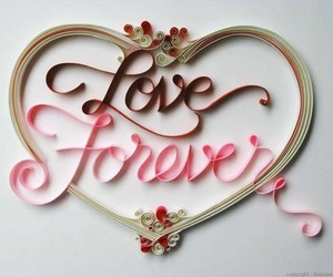 quilling, paper typography, and love & smile image