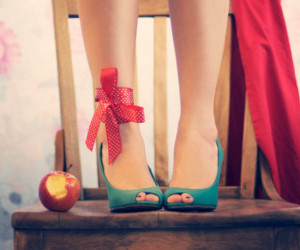 shoes, apple, and photography image