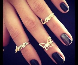 amor, rings, and love image