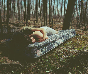 couple, love, and forest image