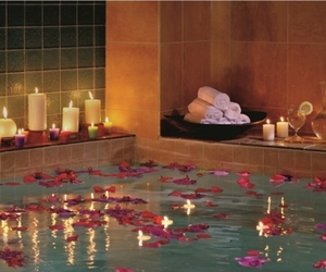 candle, bath, and romantic image