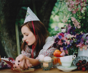 birthday, girl, and flowers image