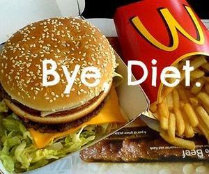 diet, food, and bye image