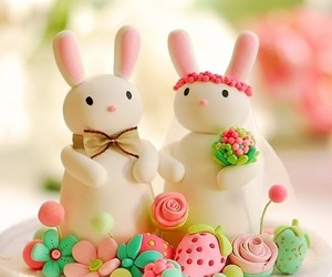 cake, bunny, and rabbit image