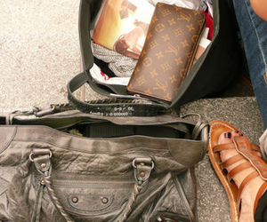 bag, Louis Vuitton, and Balenciaga image