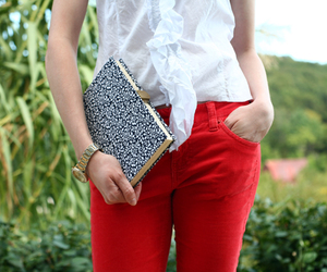 books, clutch, and craft image