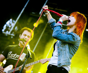 hayley williams, josh farro, and paramore image