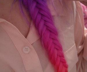 braids, colour, and pink image