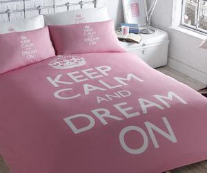 girl, keep calm, and pink image