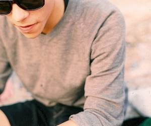boy, photography, and sunglasses image