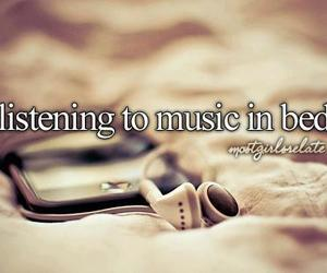 music, bed, and quote image