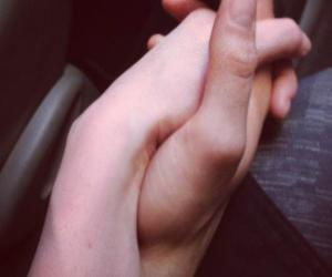 beautiful, couple, and hands image