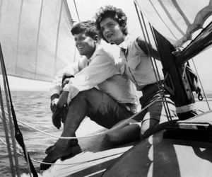 black and white, boat, and jackie image