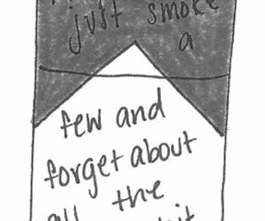 smoke, cigarette, and forget image