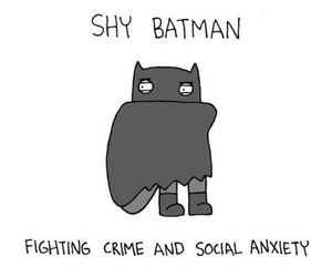 batman, shy, and funny image