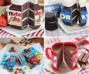nutella, oreo, and cake image