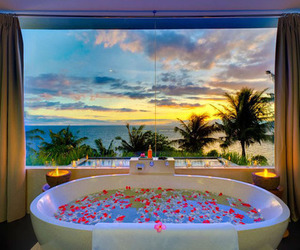 bath, summer, and luxury image