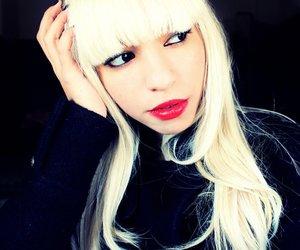 blond, Lady gaga, and lips image