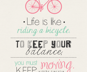 Albert Einstein, bicycle, and life image