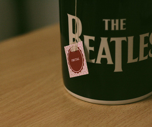 the beatles, tea, and cup image