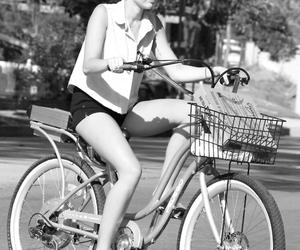 miley cyrus, miley, and bike image
