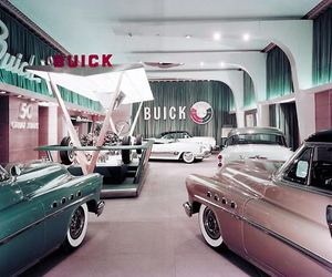 blue, buick, and car image