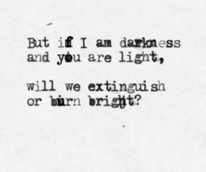 quote, Darkness, and light image