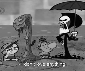 black and white, cartoon, and quote image