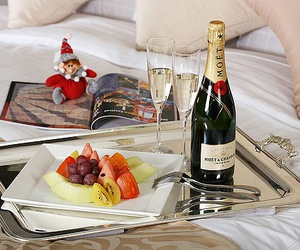 champagne, fruit, and luxury image