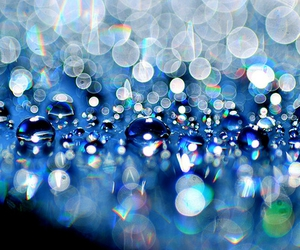blue, bokeh, and water image