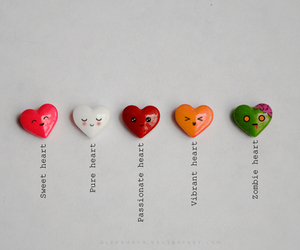 heart, hearts, and zombie image