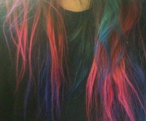 hair, colorful, and blue image