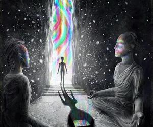 meditation and universe image