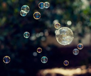 bubbles, green, and nature image