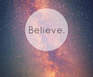 believe, stars, and galaxy image