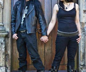 black, couple, and metal image