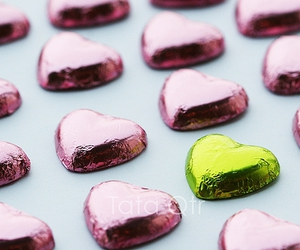chocolate, green, and heart image