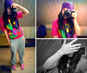 girl, bright, and camera image