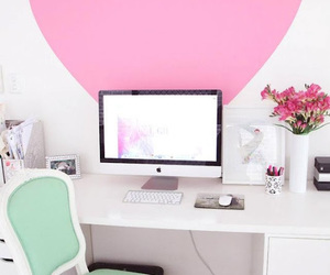 heart, pink, and room image