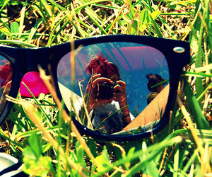grass, glasses, and camera image
