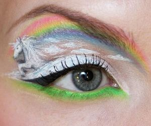 unicorn, rainbow, and makeup image